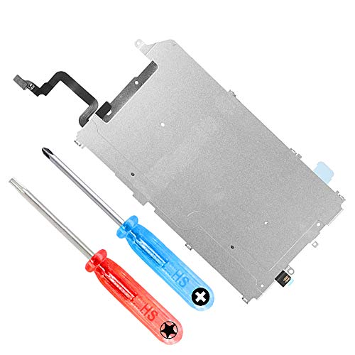MMOBIEL LCD Metal Back Plate Replacement Compatible with iPhone 6 Plus with Heat Shield incl 2 x Screwdrivers