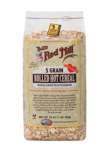 - Bob's Red Mill 5 Grain Rolled Hot Cereal 16 Ounces (Case of 4)