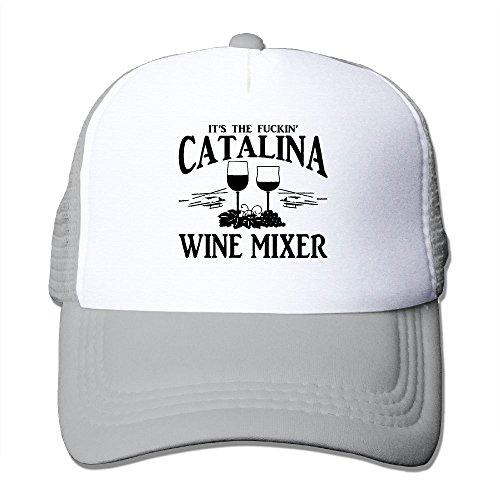 Unisex Fuckin' Catalina Wine Mixer Two-toned Summer Visor Cap Ash -