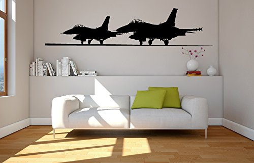 Military Fighter Jet Silhouettes Vinyl Wall Decal Sticker Graphic Handmade