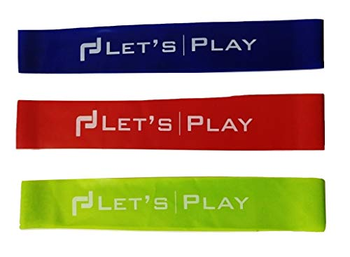 Letsplay Resistance Loop Exercise Bands, Set of 3