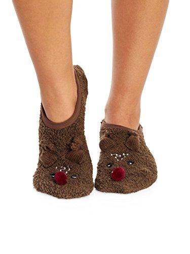 PJ Salvage Animal Slipper Socks, Coco, (Pj Salvage Womens Slippers)