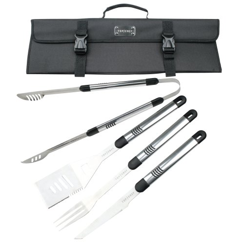 Top Chef Stainless Steel Barbecue and Carving Set, 7-Piece