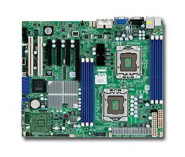 Supermicro X8DTL-I Motherboard - 5500 Dp LGA1366 Qc MAX-24GB ATX PCIE16 3PCIE8 2PCI Vid 2GBE Sata