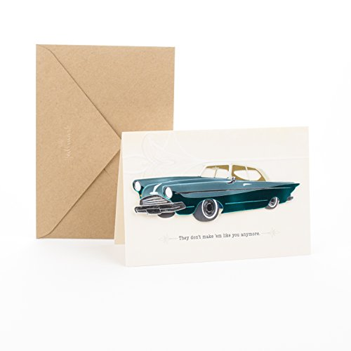 Hallmark Signature Birthday Greeting Card for Him (Classic Car)