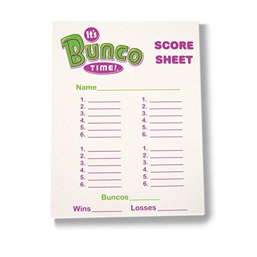 (Bunco Score Pads pack of 6)