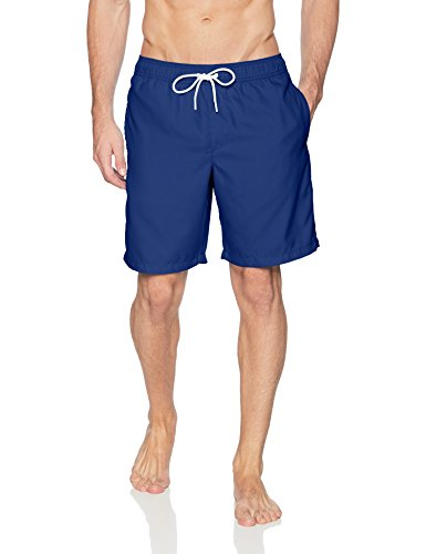 Amazon Essentials Men's Quick-Dry Solid 9'' Swim Trunk, Navy, Large by Amazon Essentials