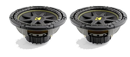 "Kicker 10C104 Comp 10"" 600 Watt 4 Ohm Car Subwoofers (Pair)"
