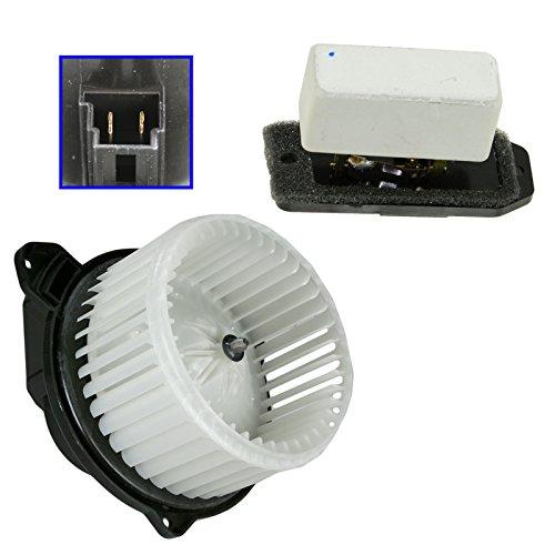 Heater Blower Motor with Fan Cage Resistor Kit Set for Dodge Ram Pickup Truck ()
