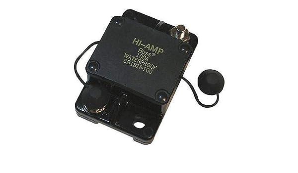 Bussmann CB181F-90 Waterproof High Amp Flush Mount Type I Circuit Breaker 1 Pack 90 Amp