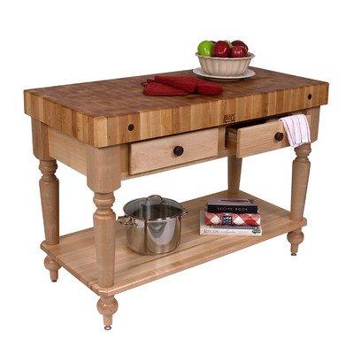 American Heritage Rustica Butcher Block Table Size / Shelf: 48