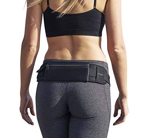 Orion Running Belt - Hands-Free Way to Carry Your Phone, Money, Keys While Hiking, Running, Walking, Parenting - Adjustable Water Resistant Fanny Pack for Amusement Parks, Travel