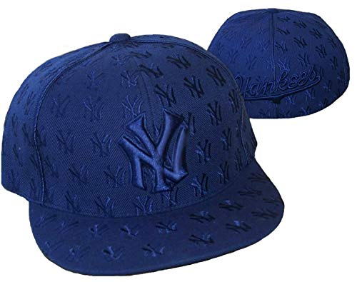 AMERICAN NEEDLE New York Yankees All Over Logos Fitted Size 7 1/2 Hat Cap - Team Colors (Yankees American Needle)