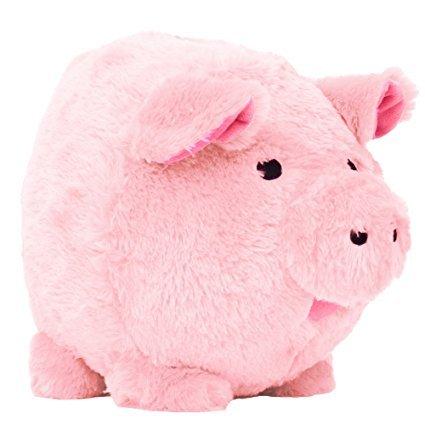 Oversized Pink Plush Piggy Bank ()