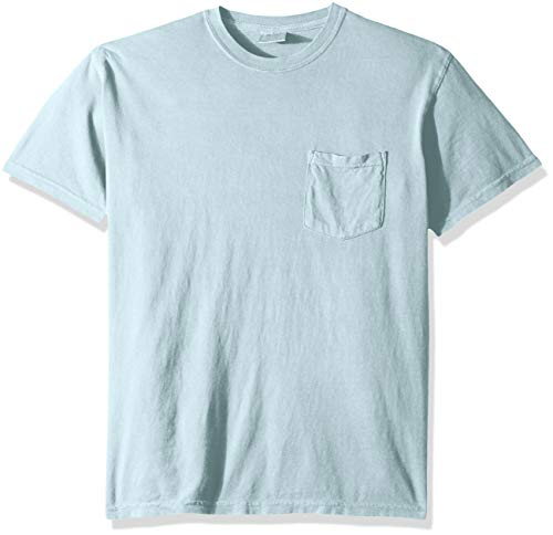 (Comfort Colors Men's Adult Short Sleeve Pocket Tee, Style 6030, Chambray, 3X-Large)
