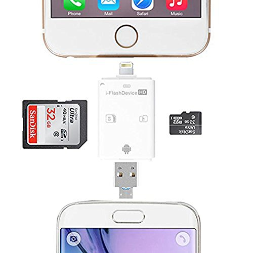 TSEAH Trail and Game Camera Viewer for Apple iPhone, iPad, iPod | Lightning connector with Extender | Reads SD, SDHC and Micro SD Cards (White) by TSEAH (Image #3)