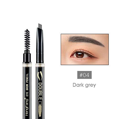 Eyebrow Pencil Brush Lapiz Micromarcador De Cejas Crayon Sourcils Maquillage Waterproof Microblading Eyebrow Tattoo Pen 04 Dark Grey
