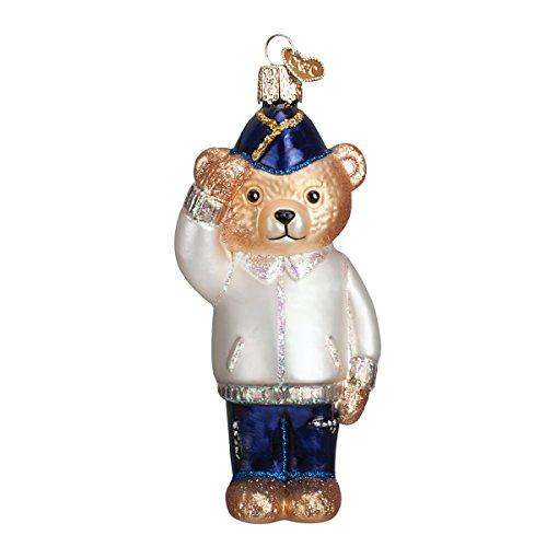 (Old World Christmas Veteran Bear Glass Blown Ornament)