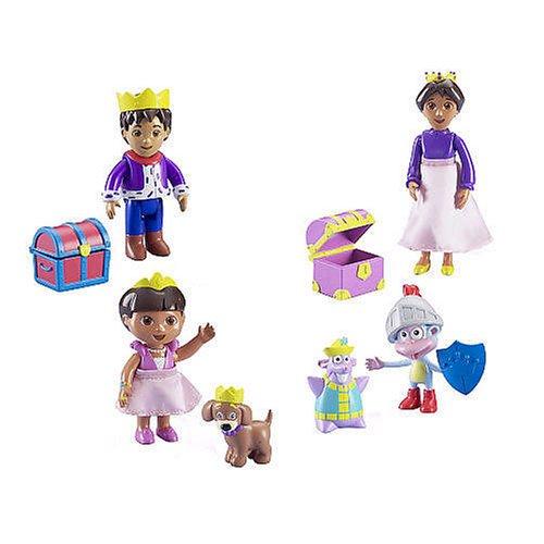 [DORA THE EXPLORER Magical Castle Royal Figure Set (Dora,Diego,Mami,Tico,Boots)] (Dora Diego And Boots)