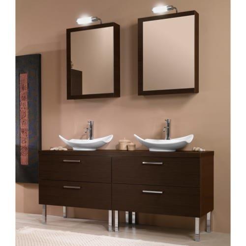 Iotti Iotti A17-Wenge-637509931148 Aurora Collection Bathroom Vanity, Wenge - Iotti Aurora Collection