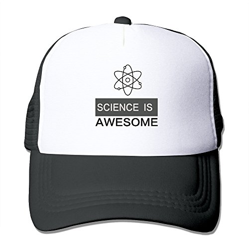 Cool Science Is Awsome Adult Baseball Trucker Hat Cap One Size Black