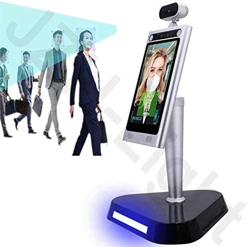JZH-Light Temperature Detection Facial Recognition 8 Thermal Infrared Tablet Camera Non-Contact Body Temperature Detection for Access Control System Time Attendance