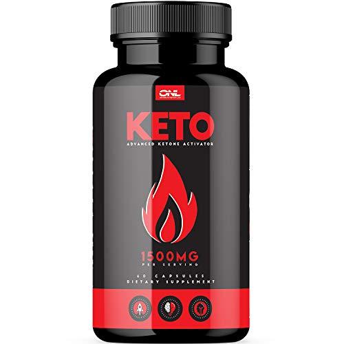 (Keto   #1 Premium Keto Pills (60 Capsules) for Ketosis, Boost Energy & Metabolism with Exogenous Ketones, BHB Salts, Best Ketogenic Burner for Men & Women - Supports Keto Diet)