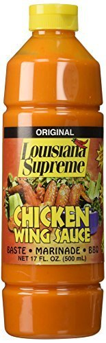Louisiana Supreme Original Chicken Wing Sauce Baste Marinade Bbq 17 Oz. (1 Each) by Louisiana Supreme