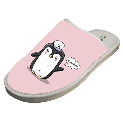 Washable Slip White Cotton Penguin Indoor Slippers Foam Non 7BHxIEq
