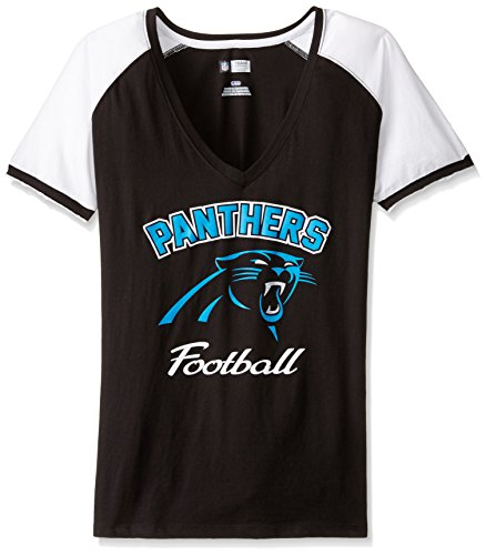 NFL Carolina Panthers Women's UZ8 Tee, Black/White, Large