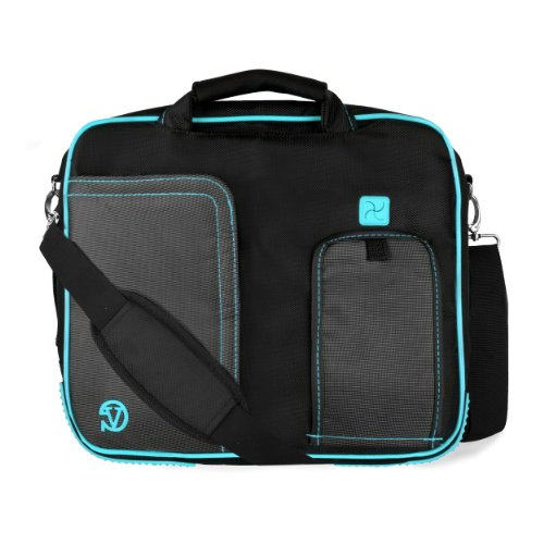 VanGoddy Pindar Messenger Carrying Bag for HP Pro Tablet 610 G1 10.1 inch, HP Pro Slate 10 EE G1 10.1 inch, HP Pro Tablet 10 EE G1 10.1 inch Tablets (Aqua) (Hp Probook 650 G1 Hard Drive Removal)