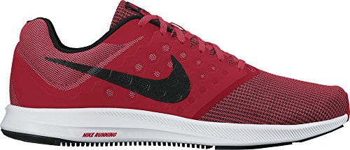 Nike Mens Downshifter 7 Löparskor Universitet Röd / Svart / Vit