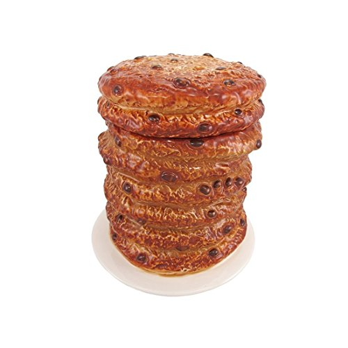 (8 Inch Giant Stacked Chocolate Chip Cookies Ceramic Jar Figurine)