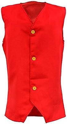 Mono de una pieza One Piece Luffy Luffy Disfraz Rufy Red Chaleco de  disfraces Anime Cosplay (M) b6d8ab99dad