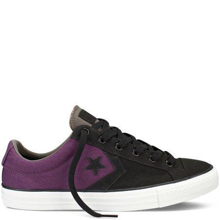 Converse Star Player Ox Men's Sneakers Size US 8, Regular Width, Color Black/Purple