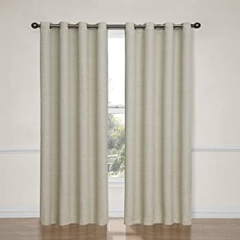 Eclipse Bobbi Grommet Blackout Window Curtain Panel, 84 Inch, Ivory