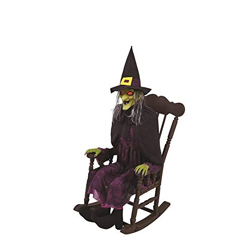 Home Accents Holiday 61 in. Animated Witch in Rocking Chair with LED Eyes -