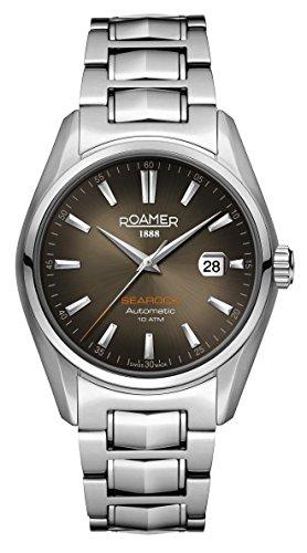 Roamer of Switzerland Men's 42mm Steel Bracelet & Case Automatic Black Dial Analog Watch 210633 41 02 20