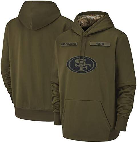 XXMM Hoodie, NFL San Francisco 49Ers Fußball-Sweatshirts Für Männer Herbst Und Winter High Neck Hoodie Long Sleeve Mantel, Angenehm Zu Tragen,3XL(190~195cm)