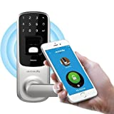 Ultraloq UL3 BT Bluetooth Biometric Keyless Fingerprint Lock. You can install UltraLoq Smart Lock on your indoor or outside door. Home or office improve your property's security