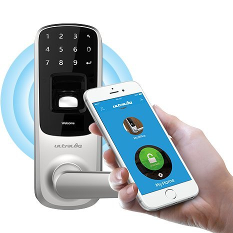 Ultraloq UL3 BT Bluetooth Biometric Keyless Fingerprint Lock. You can install UltraLoq Smart Lock on your indoor or outside door. Home or office improve your propertys security