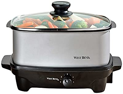 West Bend 84915 5-Quart Oblong-Shaped Slow Cooker with Tote from Focus Electrics, LLC