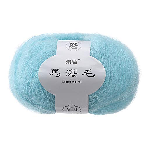 Gotian Hand-Woven Soft Mohair Knitting Wool Yarnn, DIY Shawl Scarf Crochet Thread Supplies Warm Soft Natural Hat Baby Crochet Knitwear Household Hand Knitting (G) ()