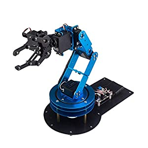 LewanSoul 6DOF Full Metal Robotic Arm Kit for Arduino| STEAM Robot Arm Kit with Handle PC Software and APP Control| with Tutorial via Link