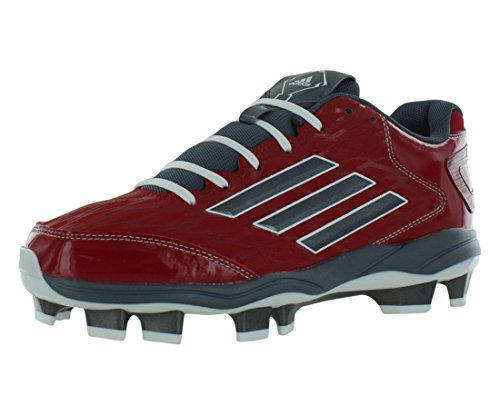 Adidas Power Alley 2 Tpu Bsbl Chaussures De Baseball Hommes Taille Red / Carbon Metallic / Onix