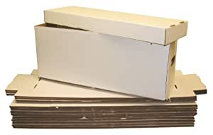 5 Long Collectible Comic Book Cardboard Storage Boxes for Comics