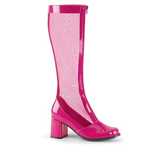 Funtasma Women's Gogo-307 Knee-High Boots Hot Pink (Pink Hot Boots)