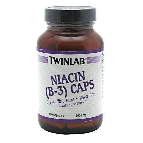 Niacin (B-3) 1000mg Twinlab, Inc 100 Caps