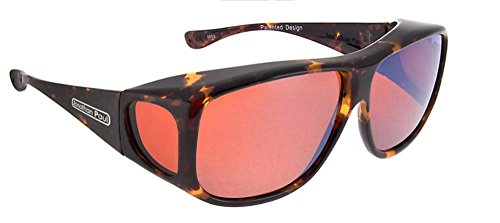 Jonathan Paul POLARIZED Fitovers Eyewear Sunglasses Aviator AV002R Tortoiseshell Frame-Polarvue Roadster Lens-Extra ()