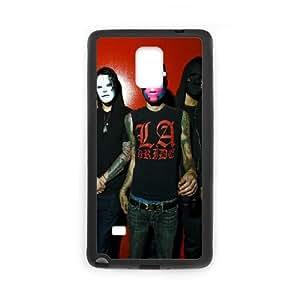 Hollywood Undead Band Members Masks Wall 2694 funda Samsung Galaxy Note 4 caja funda del teléfono celular del teléfono celular negro cubierta de la caja funda EEECBCAAJ11454